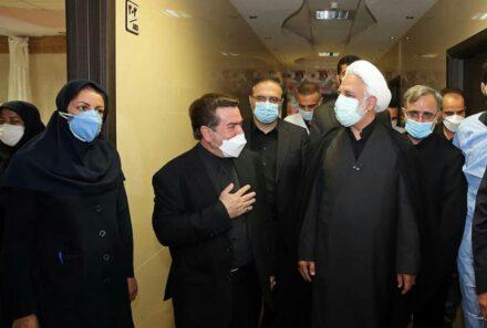 بازدید رئیس دستگاه قضا از بیمارستان امام خمینی کرج با حضور نماینده ولی فقیه و دکتر فتحی پور